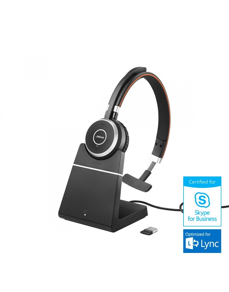 Jabra Evolve 65 MS Mono mit Headset Ladestation