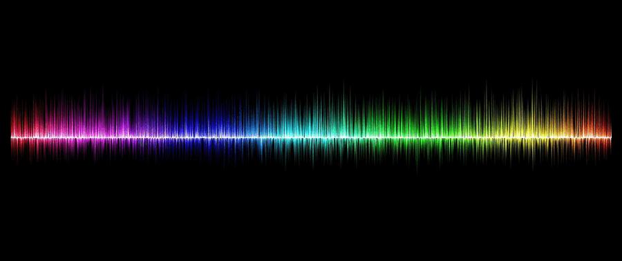 Frequenzen in verschiedenen Farben