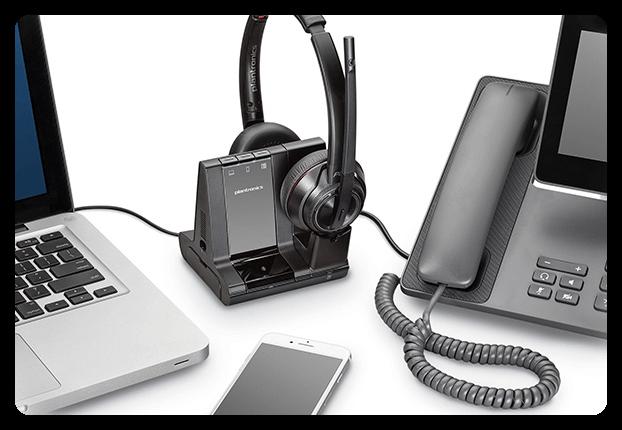 Plantronics Savi 8200 Verbindungsmöglichkeiten PC Telefon Handy