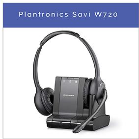 Plantronics Savi W720 Drahtloses DECT Office Headset für PC, Handy und Festnetztelefon