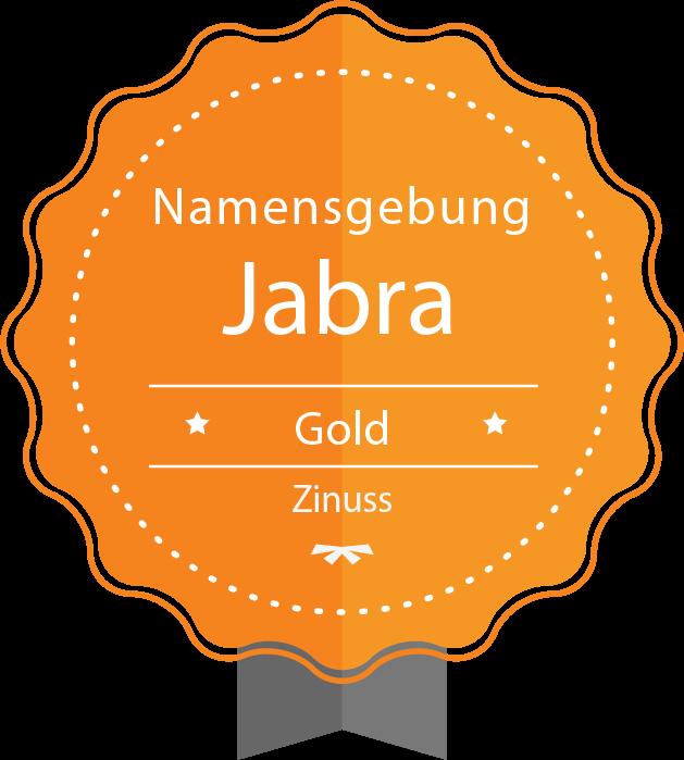Plakette für Jabra's Namensgebung