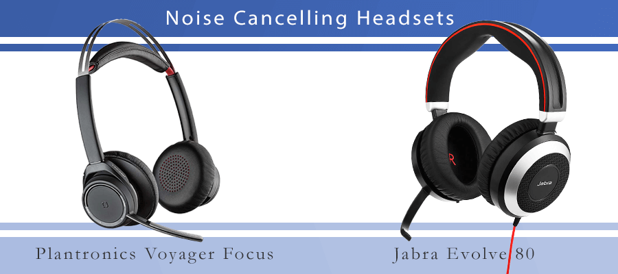 Noise Cancelling Headset Plantronics und Jabra