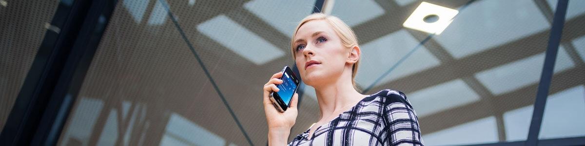 SpeechLive diktere på mobil